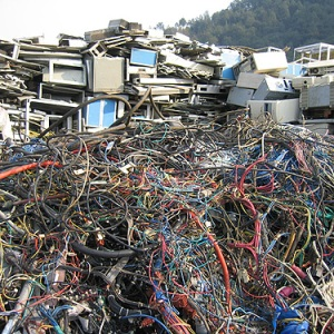 e-waste pile from US AID